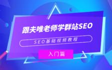 SEO基礎視頻教程:《跟夫唯老師學群站SEO》入門篇